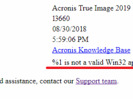 %1 Is Not A Valid Win32 Application Error