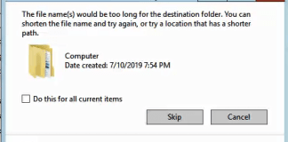 File Path too long