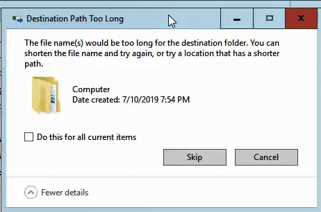 File Path too long