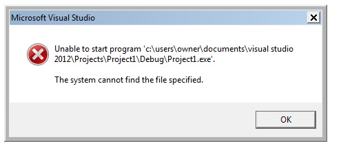 The System Cannot Find The File Specified