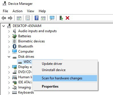 device manager The Drive Cannot Find The Sector Requested