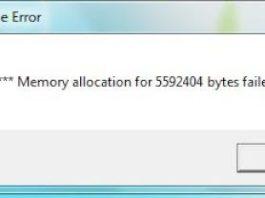Memory Allocation Error