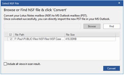 Convert Lotus Notes NSF File to Outlook PST
