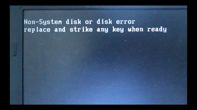 non system disk or disk error
