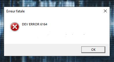 Dev Error 6164
