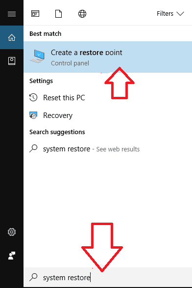 system restore The Service Cannot Accept Control Messages at this Time