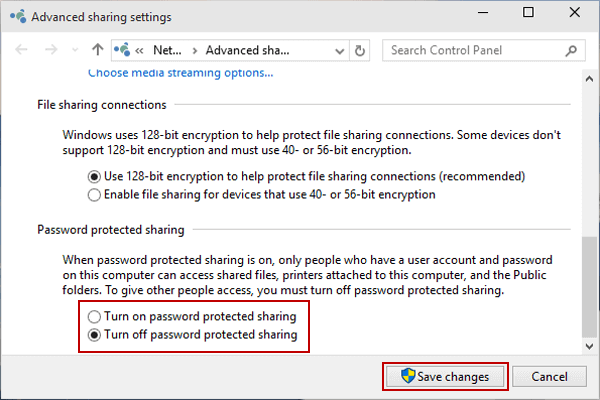 Turn Off Password Protected Sharing The Specified Network Password Is Not Correct