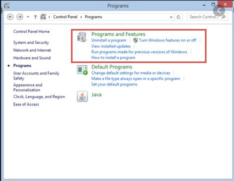 windows 7 uninstall program