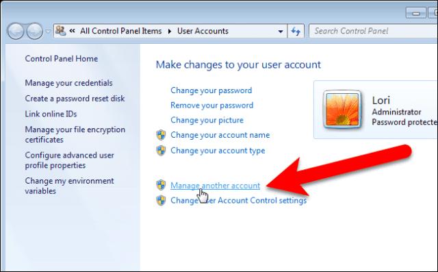 user account windows