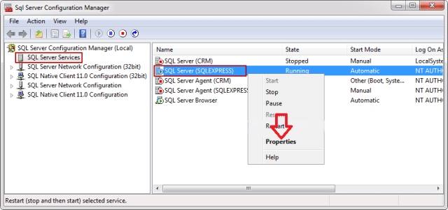 sql server configuration manager No Process Is On The Other End Of The Pipe