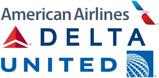 Resultado de imagen para American, Delta, United logo