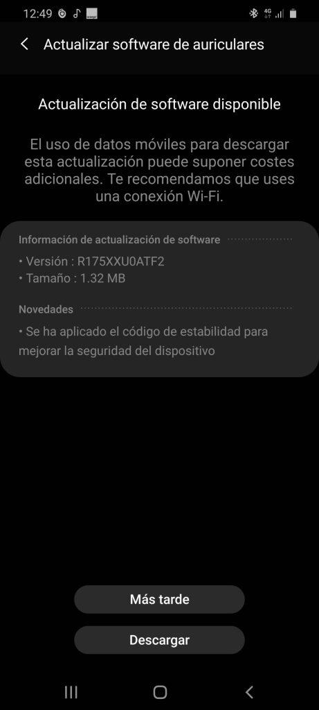 Galaxy Buds actualizacion