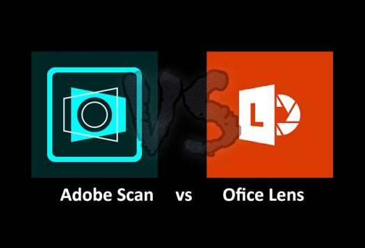 Adobe Scan vs Office Lens