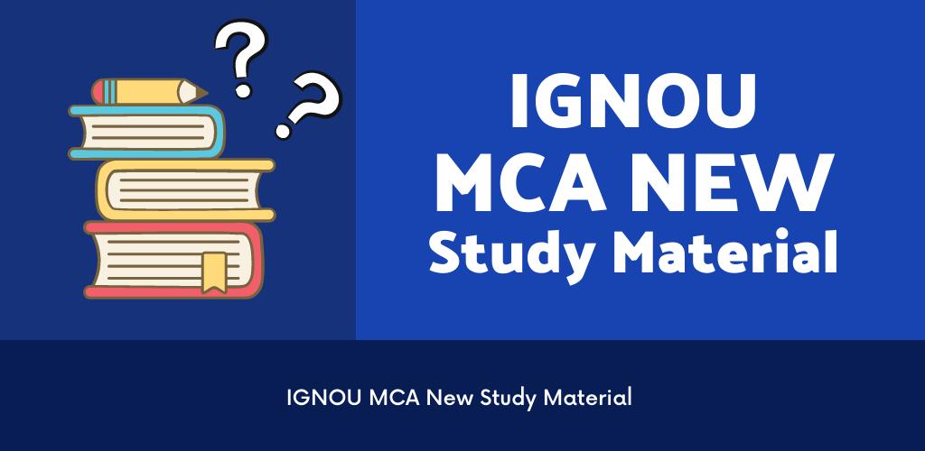 ignou mca new study material