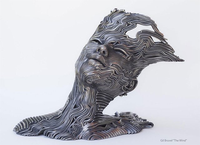 Human Figures made of untangling stainless Steel 2