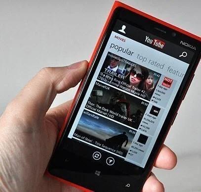 windows phones youtube
