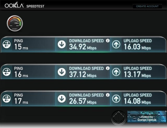 LTE CPE E5180 speed tests