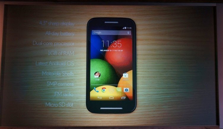 Motorola launches an entry-level Android Smartphone, the