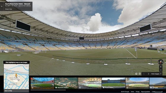 World cup stadium street view