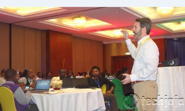 Mike Moyer Presenting in Kampala