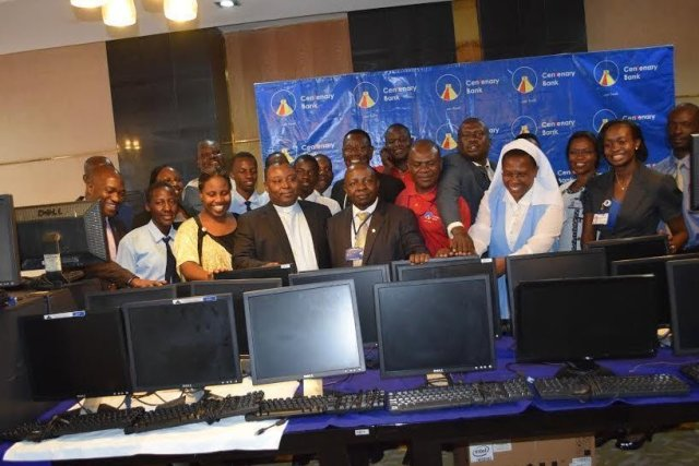 centinary bank donates computers