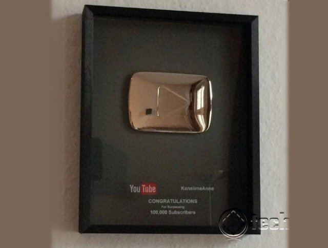 anne kasnsime play button 100000