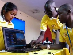 The MTN Junior Robotics teams in progress