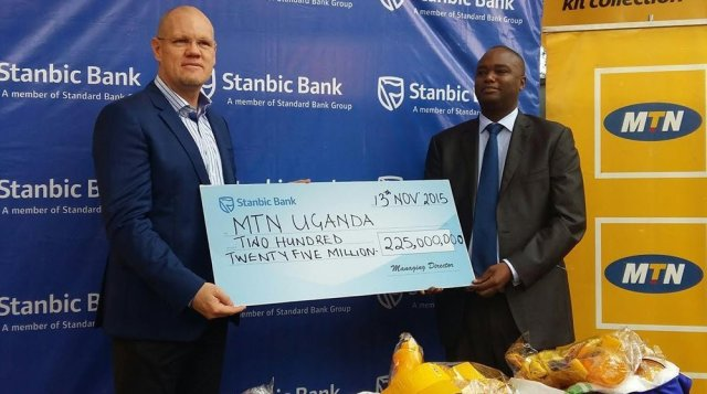 Stanbic donates to MTN marathon