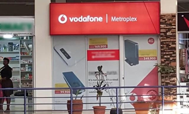 A Vodafone shop