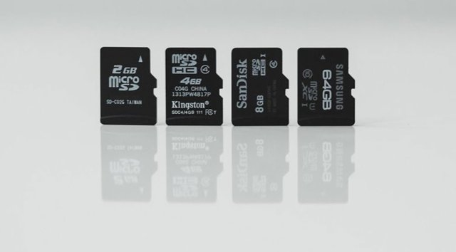 MicroSD card types