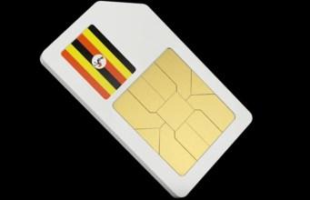 SIM in Uganda black