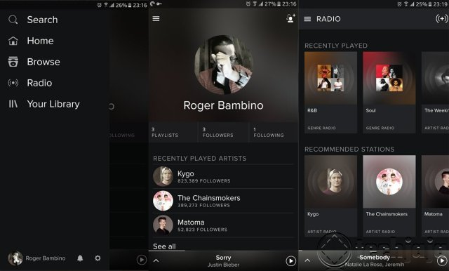 Spotify app 1