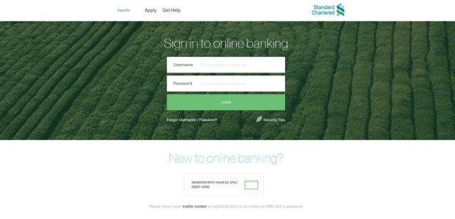 Standard Chartered new UI