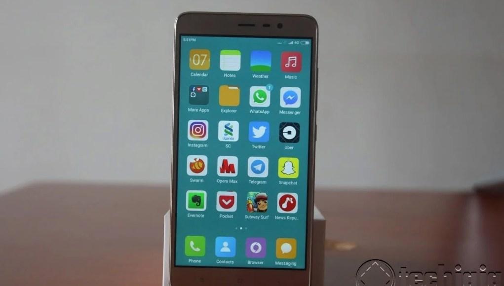 RedMi Note 3 phone