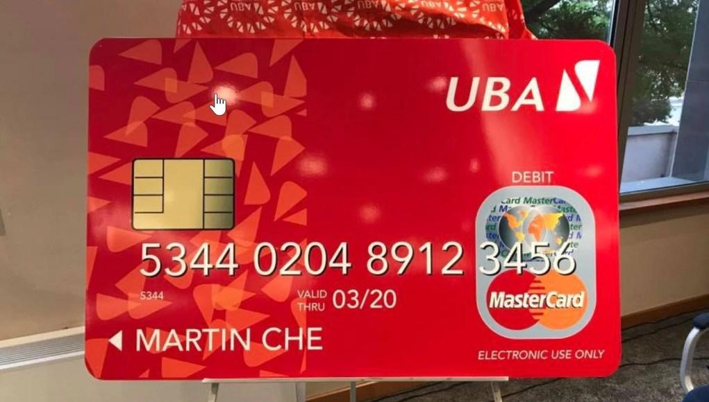 UBA mastercard dummy