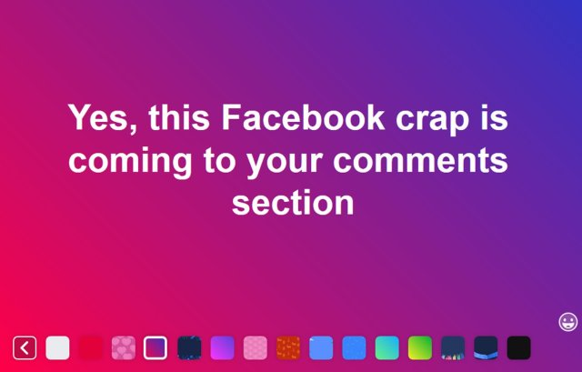 Colored comments coming to Fabebook