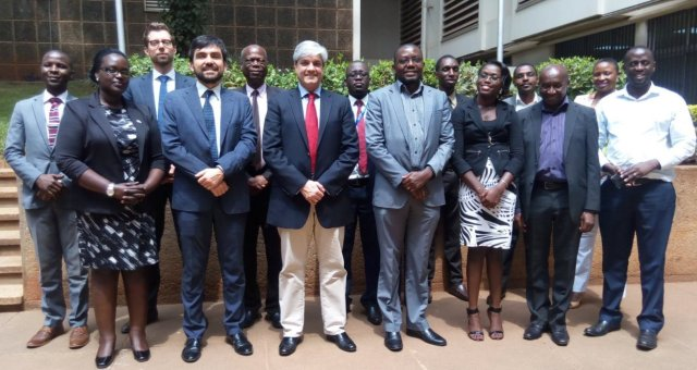 Council of Europe, NITA, DPP, Uganda Police Force, Ministry of ICT & National Guidance and Ministry of Foreign Affairs pose for picture