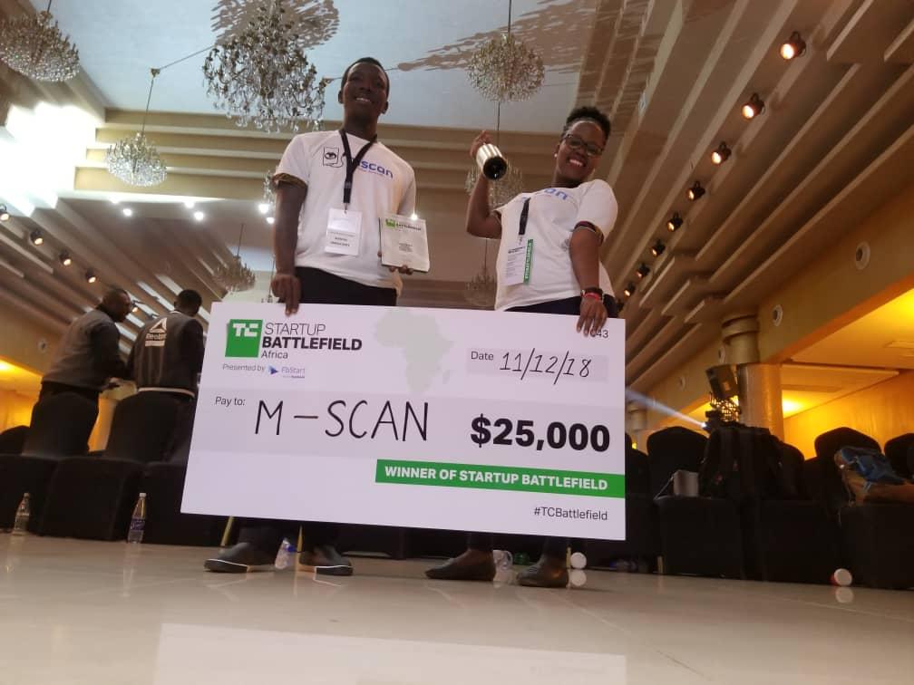 Uganda's mSCAN awarded Startup Battlefield Africa's BEST