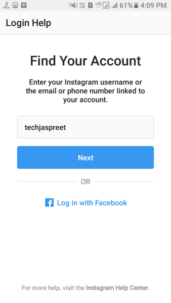 How To Reset Instagram Password Using Phone Number