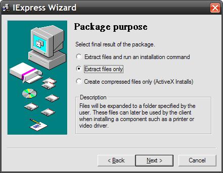 Hidden Installer Creator in Windows XP