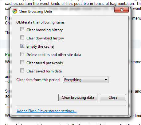 How To Enable A Cache Size Limit In Google Chrome