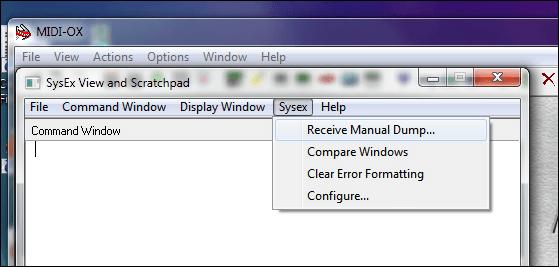 Retro Friday: Using MIDI-OX For SysEx Dumps