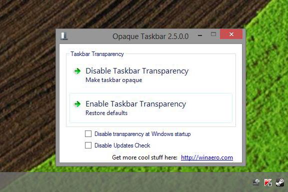 Transparent Taskbar Windows 8