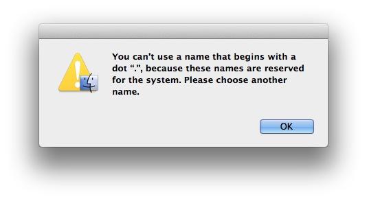 How to Create Hidden Folders Mac OS X