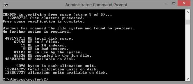 CHKDSK Windows 8