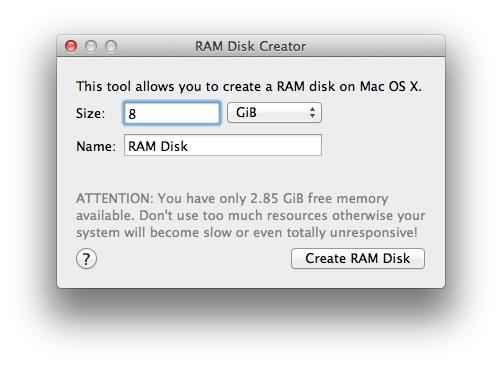 RAM Disk Creator