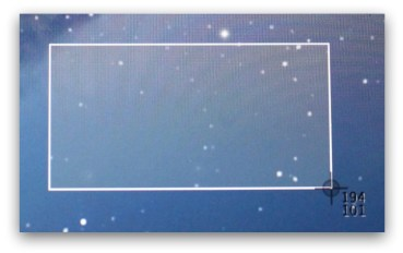 Mac OS X Screenshot Crosshair