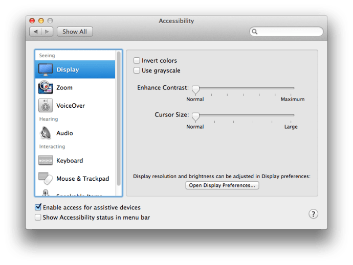 Enable Assistive Devices Mountain Lion