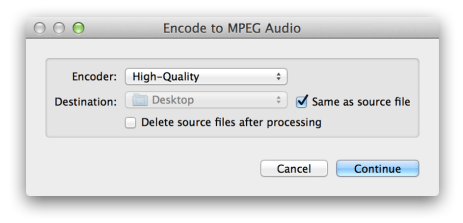 How to Convert and Encode Audio in OS X Finder