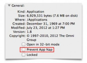How to Disable App Nap in OS X Mavericks